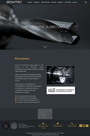 Irontec OÜ veebileht